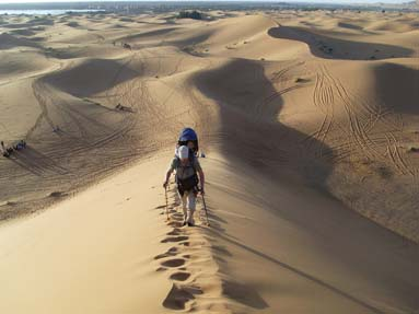 Randonnée dans le désert 10 jours